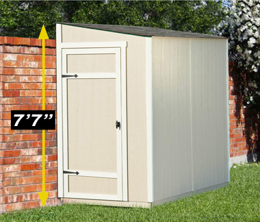 lean two shed with doors closed - Garden Sheds Victoria
